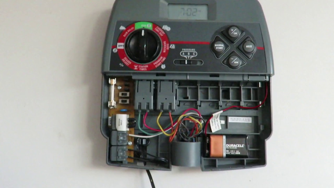 small resolution of troubleshooting no power to lawn sprinkler timer unit youtube sprinkler fuse box wire