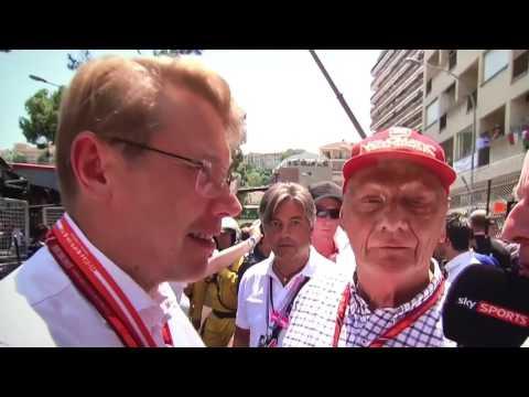 Mika Hakkinen  Monaco GP grid interview