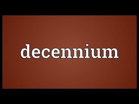 Header of decennium