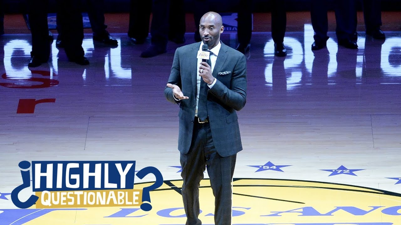 Bigger deal for Lakers: Kobe ceremony or taking Warriors to OT? | Highly Questionable | ESPN