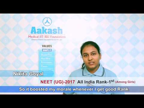 NEET UG 2017 Topper: Nikita Goyal - AIR 8 | Aakash Institute
