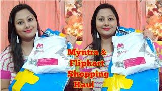 Myntra & Flipkart Shopping Haul || Party wear Saree haul || Kurti & kurti set Haul ||