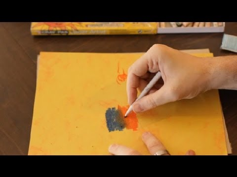 the tortillon stump blending technique in pastel painting art