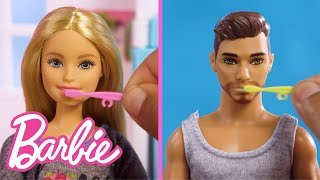 My Morning Routine with Barbie and Ken Dolls | Barbie