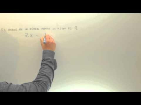 Problemas de ecuaciones El doble de un numero menos su mitad Matematicas Academia Usero