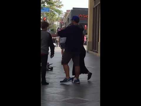 Two women fight - Santa Monica Promenade
