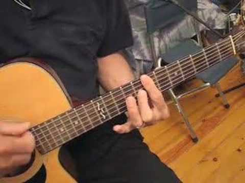 TheFolksinger's Fingerstyle Guitar Lesson in Open D-Minor
