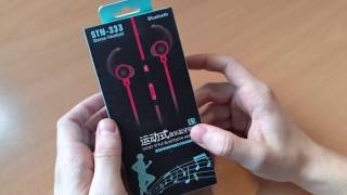 STN 333 - Bluetooth наушники из китая (Review Bluetooth headphones STN 333)