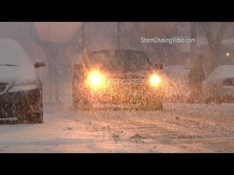1/21/2015 Grand Rapids, MI  Heavy Clipper Snow, B-Roll