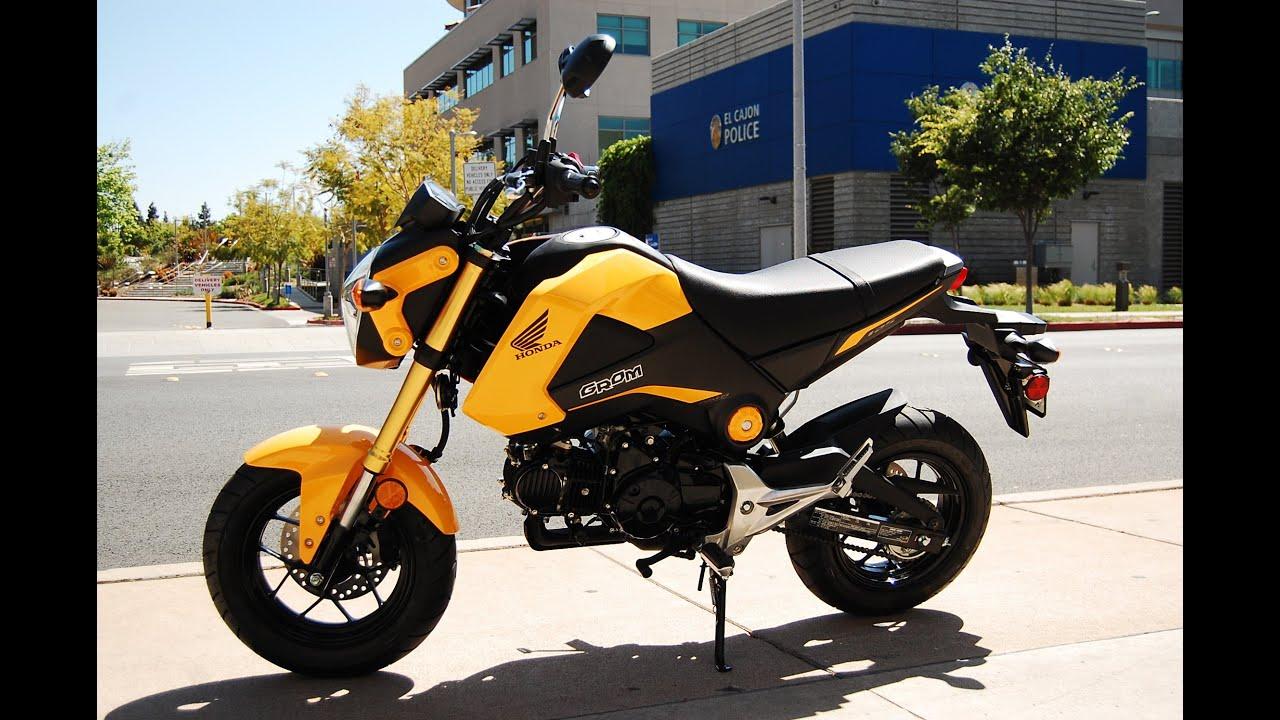 2015 Honda Grom Yellow - YouTube
