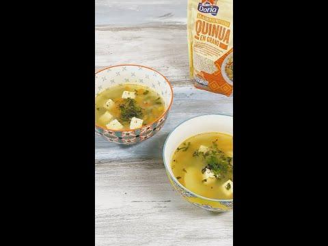 Sopa de Quinua y Tofu