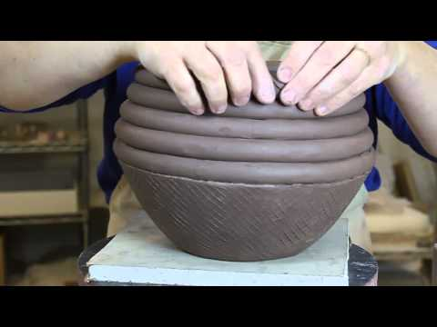 Bridges Pottery - Ceramic Slab and Coil Vessel Demonstration