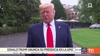 Donald Trump anuncia su presencia en la APEC