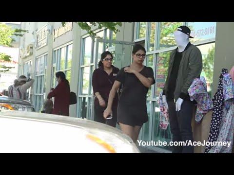 Mannequin Scare Prank On Indian GIRLS! SPEAKS PUNJABI!
