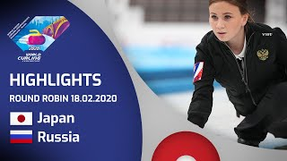 HIGHLIGHTS: Japan v Russia - Women's round robin - World Junior Curling Championships 2020