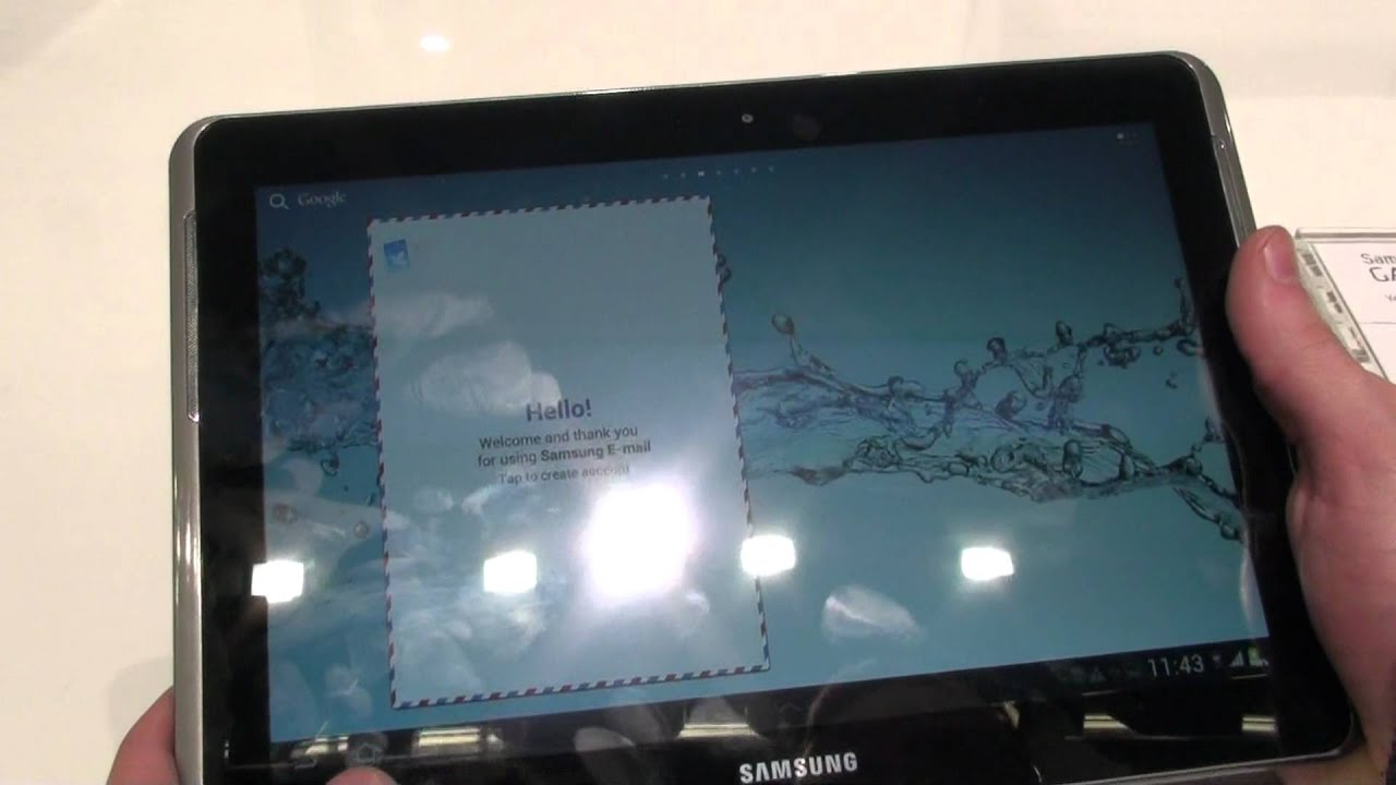 Samsung Galaxy Tab 2 10 1 Hands On Review Youtube