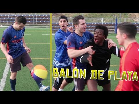 BALÓN DE PLAYA Y CROSSBAR CHALLENGE VS Robert PG, xBuyer y Koko DC | Retos de fútbol