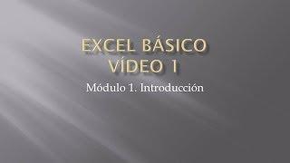 Curso Excel 2010 Básico. Video 1.Introducción thumbnail