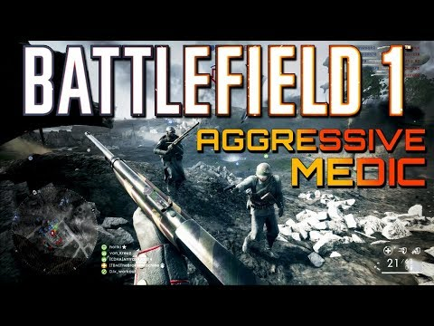 Battlefield 1: Medic MVP - 101 Aggressive Game on Operations (PS4 PRO Multiplayer Gameplay)