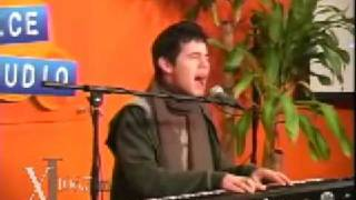 David Archuleta performing A Little Too Not Over you on radio