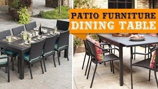 60+ Patio Furniture Dining Table Sets