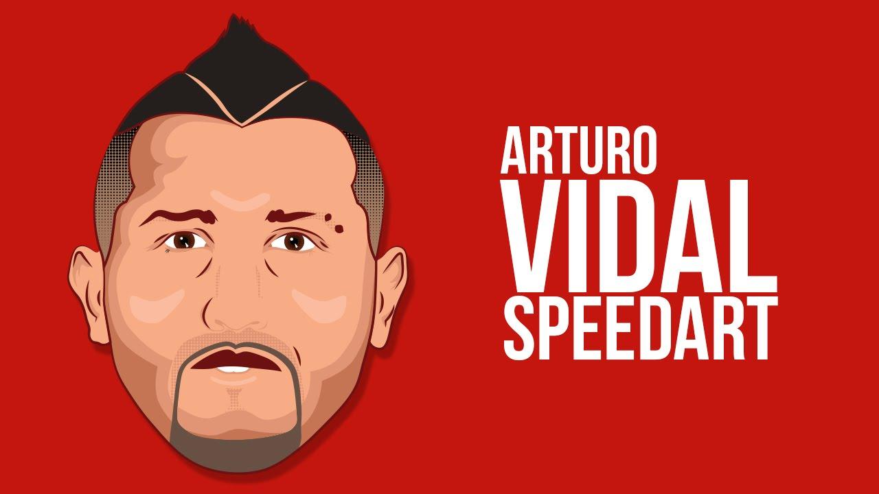 Speed art sylphinford minimalist vector art youtube - Arturo Vidal Vector Art Work Speedart