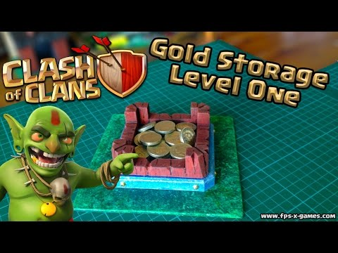 Making a Clash of Clans Gold Storage Level One