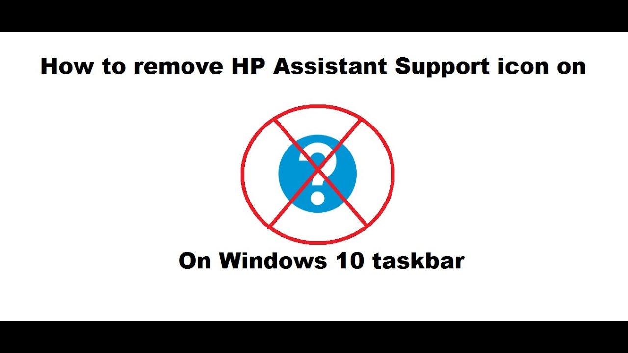 How to remove hp icon on Windows 10 taskbar