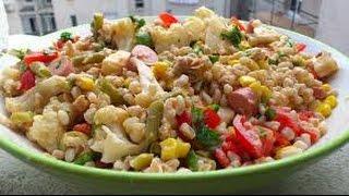 Ricetta Estiva Insalata Di Orzo,pollo E Verdure,summer Salad Recipe Barley, Chicken And Vegetables