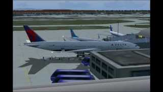 Delta Flight 188 Beijing to Detroit. Full flight. (FS2004)