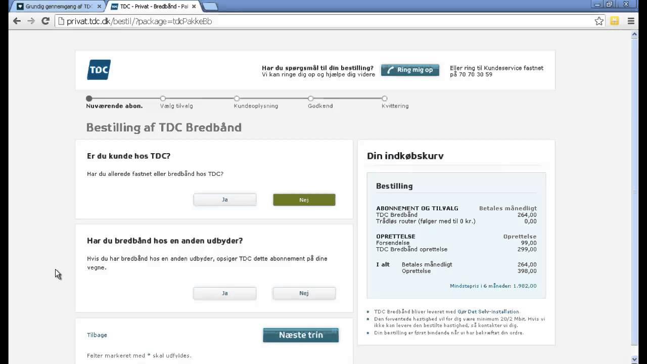 guide sådan køber du bredbånd på tdc dk youtube