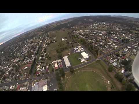 Glen Innes NSW aerial view from DJI Drone