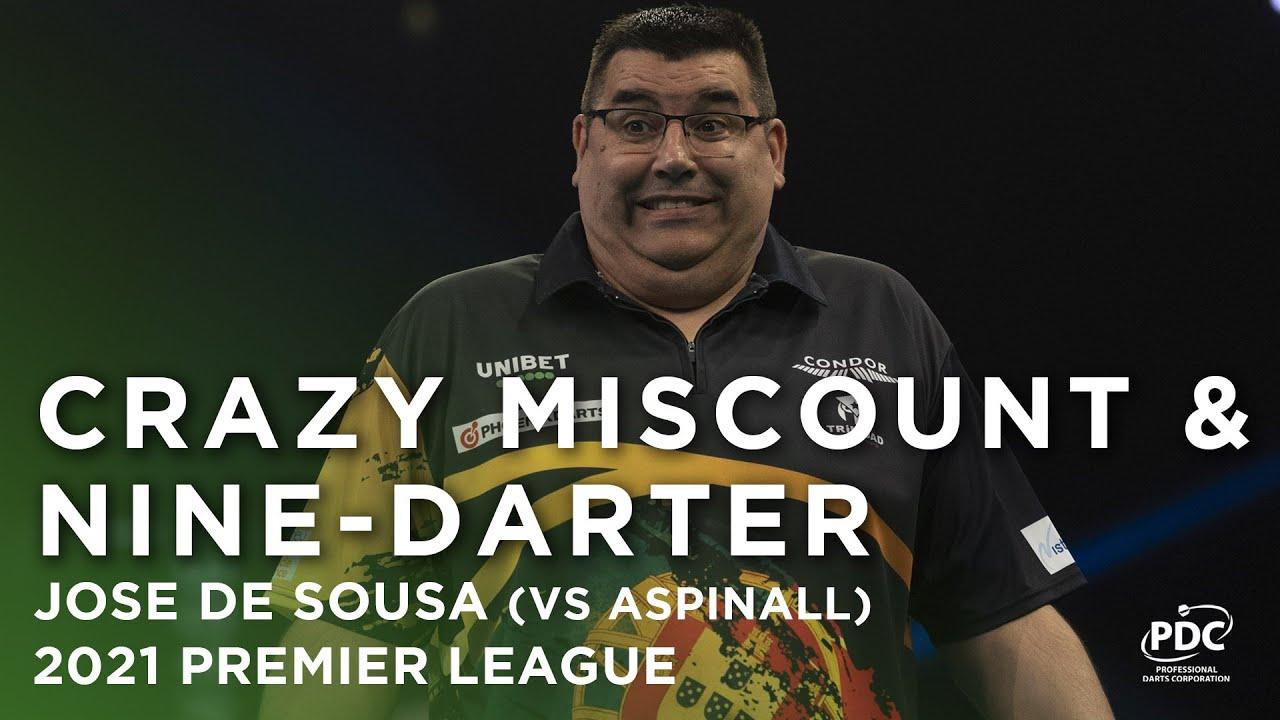 Download MISCOUNT & THEN A NINE-DARTER 🤣 Jose de Sousa v Nathan Aspinall   2021 Unibet Premier League