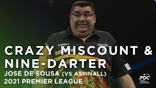 MISCOUNT & THEN A NINE-DARTER 🤣 Jose de Sousa v Nathan Aspinall | 2021 Unibet Premier League