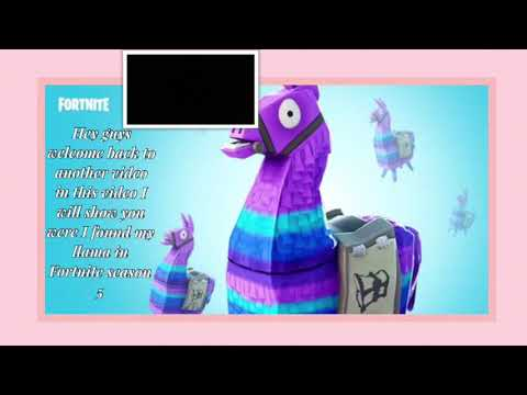 Where To Find A Llama In Fortnite Season 5