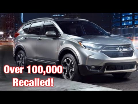 Honda recalls over 100,000 CR-V- will this effect the 2018 2019 Honda Accord too??
