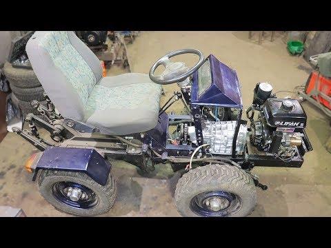 Трактор переломка своими руками с двигателем лифан