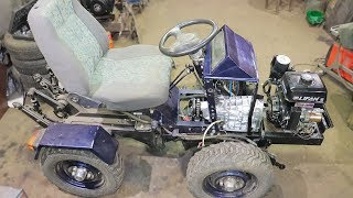 как сделать самодельный трактор с двигателем лифан