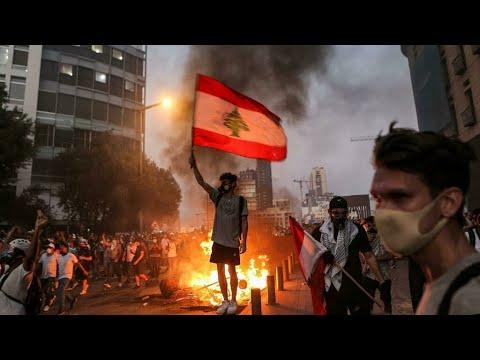 اللبنانيون يتظاهرون للمطالبة بالعدالة للضحايا ومحاسبة المسؤولين في الذكرى الأولى لانفجار مرفأ بيروت