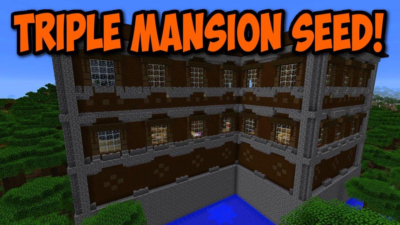 ✓ amazing x3 woodland mansion seed