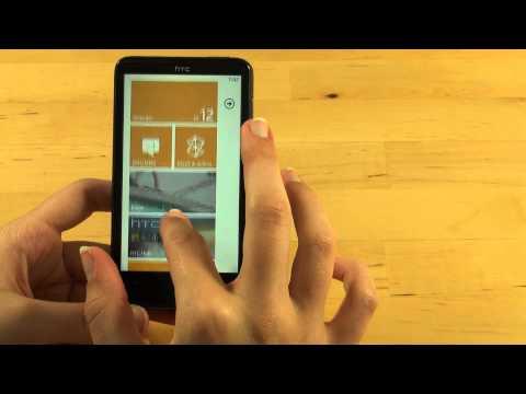 HTC HD7 Test Bedienung