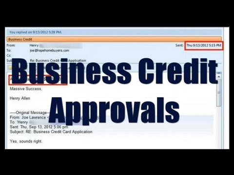 Business Credit Approvals Updates