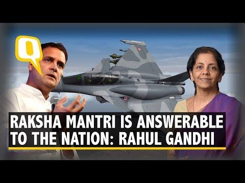 Rahul Gandhi Attacks Modi, Sitharaman over Rafale | The Quint