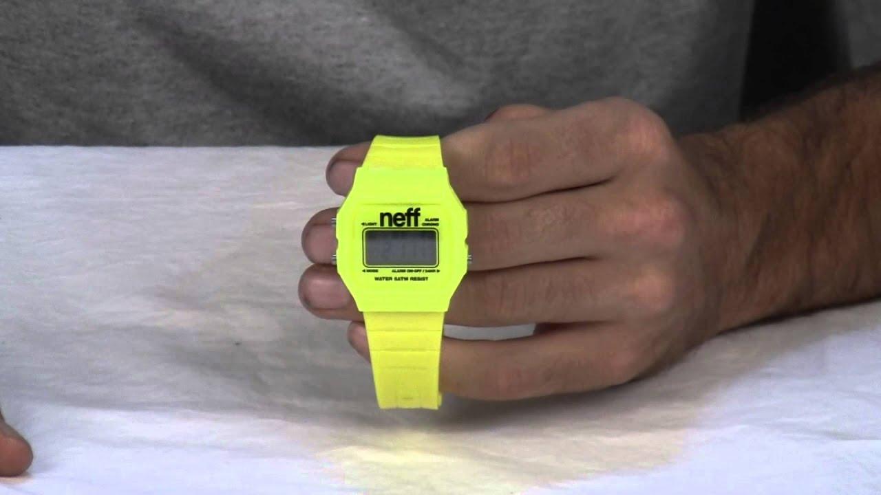 neff flava digital watch instructions