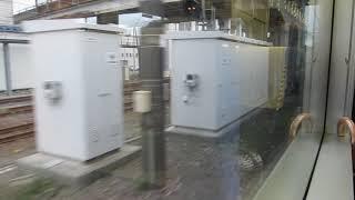 えちごトキめき鉄道ET122系「日本海ひすいライン」糸魚川行きが終点のETR糸魚川駅に到着(車内より)