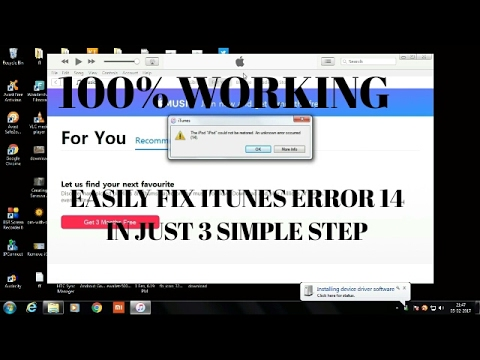 HOW TO FIX ITUNES ERROR 14 IPHONES/IPAD/IPOD