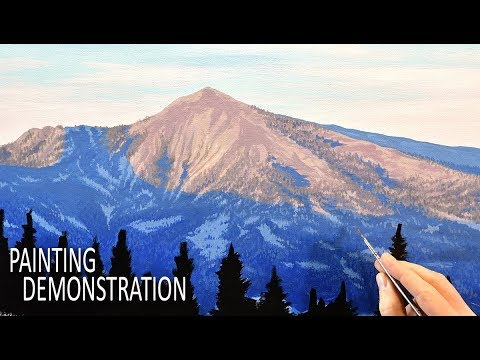 How to Paint Realistic Mountains | Acrylic Painting