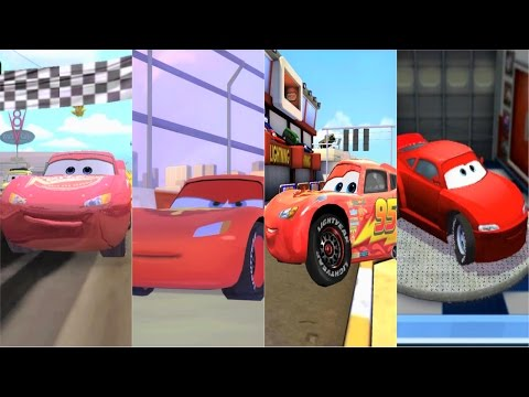 Lightning McQueen in Cars 1, Cars 2, Cars Fast as Lightning, Cars Toon Mater's Tall Tales - 동영상