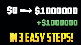 BROKE TO MILLIONAIRE IN 3 EASY STEPS! - GTA Online Beginners Money Guide thumbnail