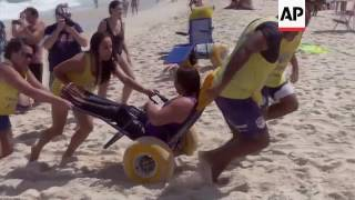 Disabled beachgoers find improved access